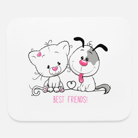 Best Mouse Pads - best friends - Mouse Pad white