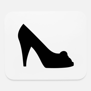 Highheeled Shoes Vector high heels shoes Silhouette - Mouse Pad