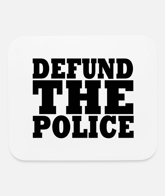 Super Dad Mouse Pads - DEFUND THE POLICE - Mouse Pad white