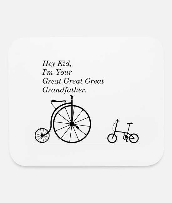 Grandpa Mouse Pads - GREAT GRANDFATHER OF BIKE - Mouse Pad white