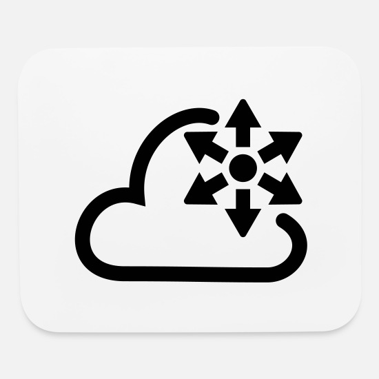 Cloud Mouse Pads - Pressure icon - Mouse Pad white