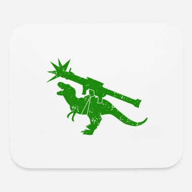 Tyrannosaur Green Tyrannosaur rocket launcher DISTRESSED - Mouse Pad
