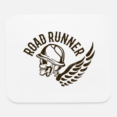 Tatoo Road runner biker skull tatoo wings inscription - Mouse Pad