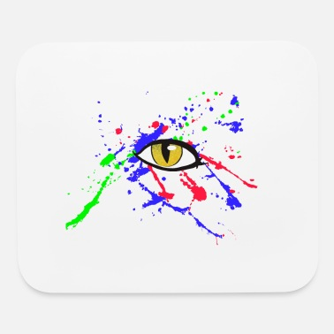 Paint splash and eye - Mouse Pad