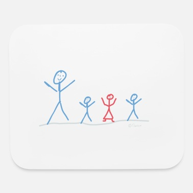 Boys And Girls dad with boys and girl - Mouse Pad