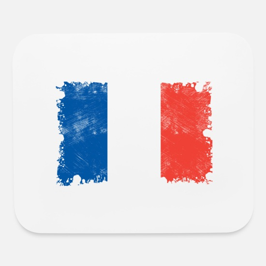 France Mouse Pads - France flag, France flag, France - Mouse Pad white