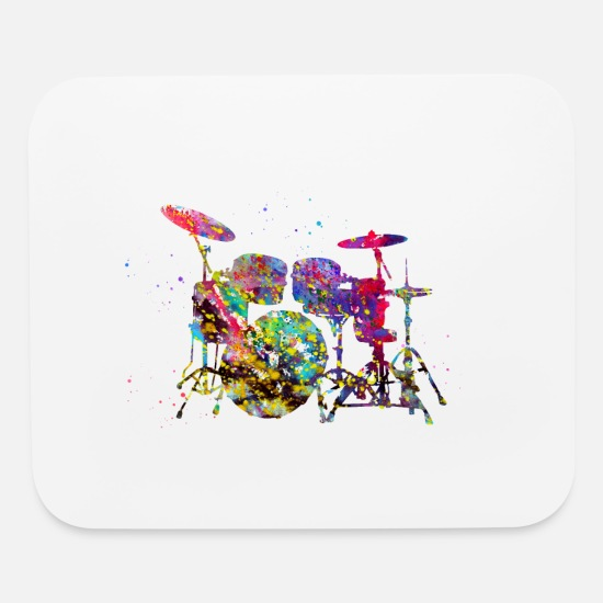 Drum Mouse Pads - Drums - Mouse Pad white