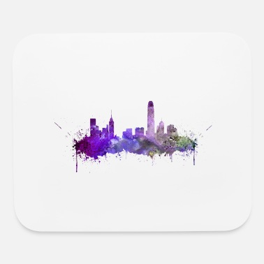Hong Kong skyline - Mouse pad Horizontal
