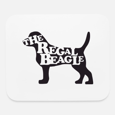 Cute Animals the beagle is here - Mouse Pad