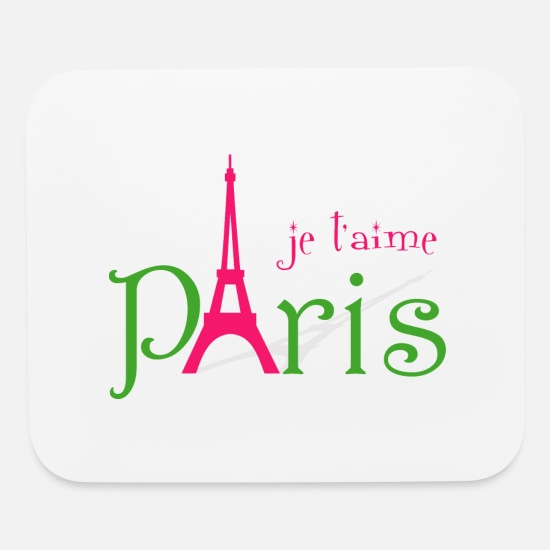 Paris Mouse Pads - I love Paris - Mouse Pad white