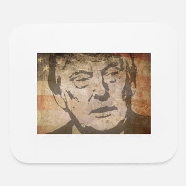 President Donald J Trump Donald J. Trump with american flag as background - Mouse Pad