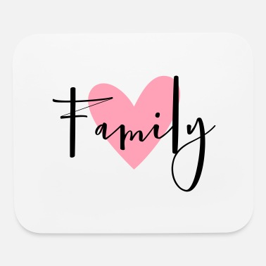 Family Holiday Family heart love gift idea - Mouse Pad
