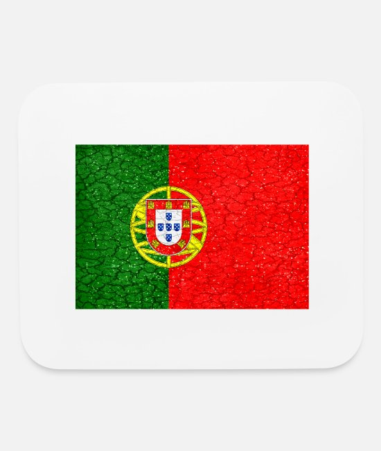 Grungy Mouse Pads - Portugal Grunge Flag - Mouse Pad white