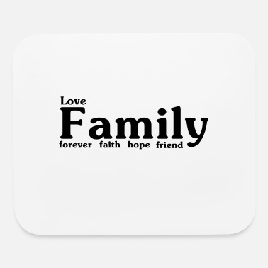 Crest love family 8 - Mouse Pad