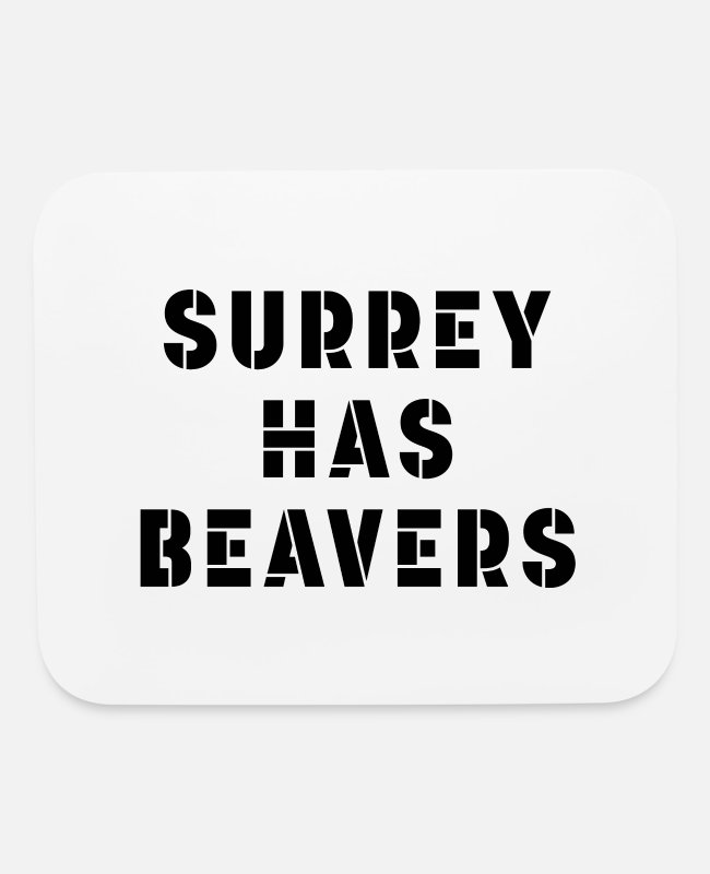 Canada Mouse Pads - Surrey BC has beavers - Mouse Pad white