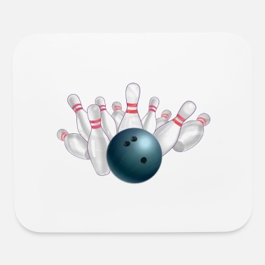 Bowling Ball Blue and Pin - Mouse Pad