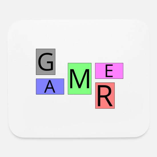 Game Mouse Pads - Gamer - Mouse Pad white