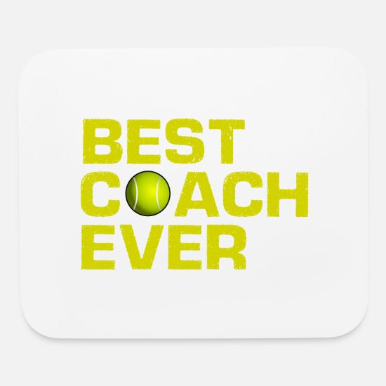 Tennis Match Mouse Pads - Best Coach Ever - Tennis - Trainer - Training - Mouse Pad white