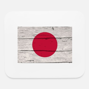 Old School Japanese Flag On Old Timber - Mouse Pad
