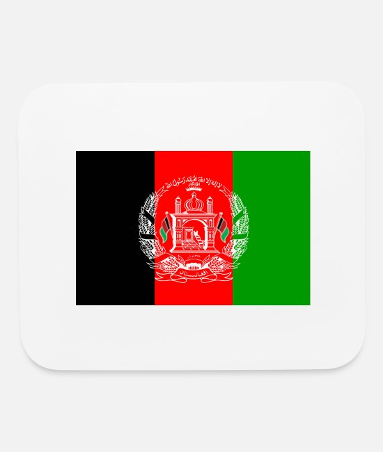 Copenhagen Mouse Pads - Afghanistan National Flag - Mouse Pad white
