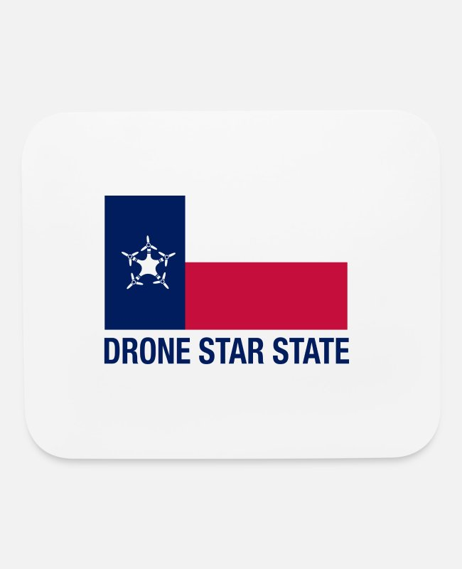 3DR Mouse Pads - Drone Star State - Long Sleeve - Mouse Pad white