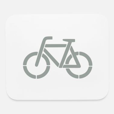 Stencil bicycle stencil - Mouse Pad