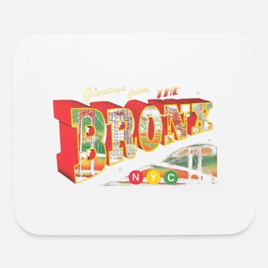 Bronx Mouse Pads - New York Bronx Post Card Vintage Retro Clothing - Mouse Pad white