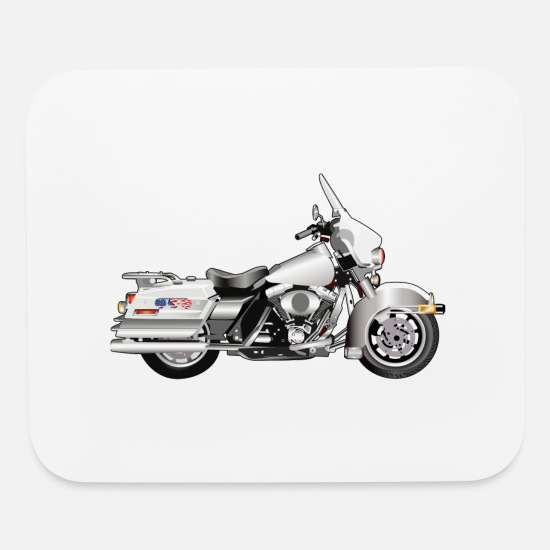 Cop Mouse Pads - Motorcycle - Mouse Pad white
