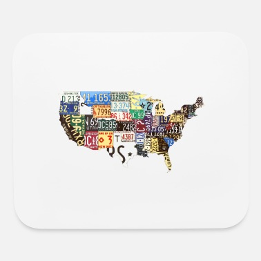License Plate USA vintage license plate - Mouse Pad