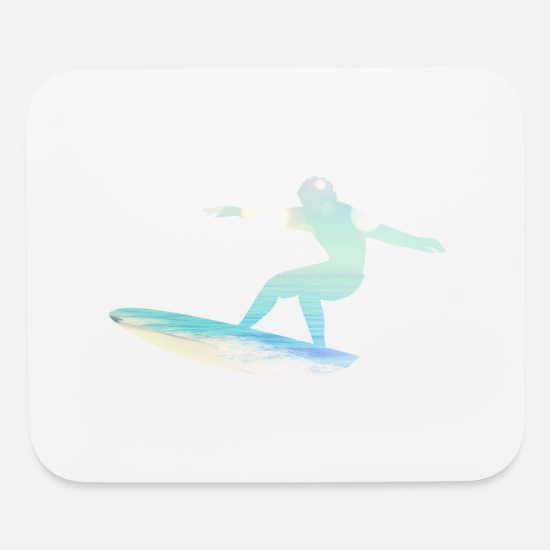 Surfer Mouse Pads - Surfing Nation - Motion Ride - Surfer Gift - Mouse Pad white