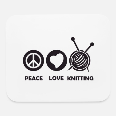 Wine peace love knitting - Mouse Pad