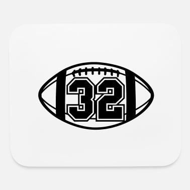 32 Football Vector 1_color TAS - Mouse Pad