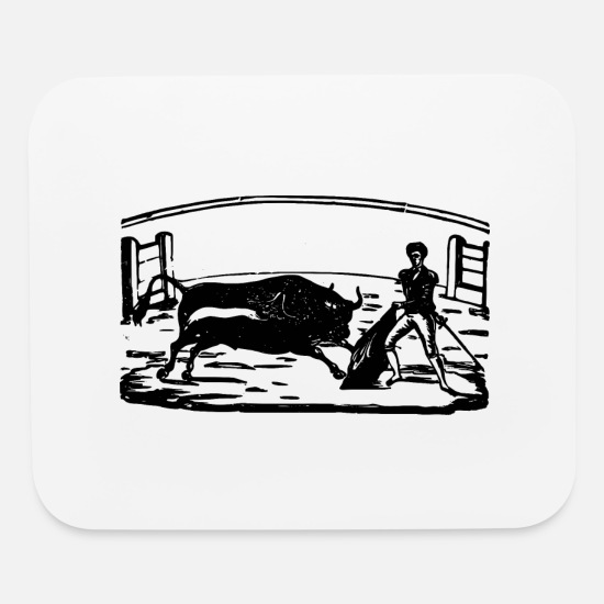 Contest Mouse Pads - Bullfight - Mouse Pad white