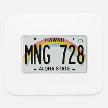License Plate Hawaiian License Plate - Mouse Pad