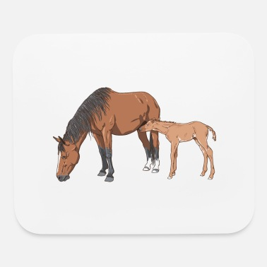Mare mare & foal - Mouse Pad