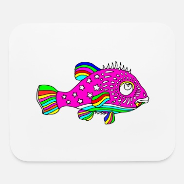 Colorcontest Cool Colors fish - Mouse Pad