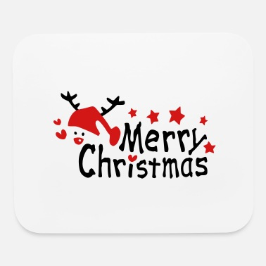 Pattern Merry christmas txt snowman stars hearts - Mouse Pad