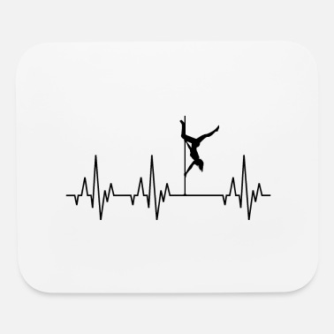 Guys Night Out Heartbeat Pole Dance Dancing Dancer - Mouse Pad