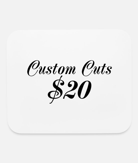 Customized Mouse Pads - custom cuts - Mouse Pad white