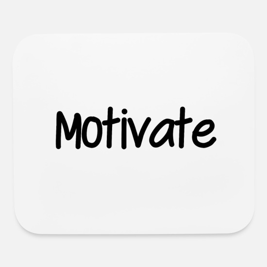 Pretty Mouse Pads - Motivate - Mouse Pad white