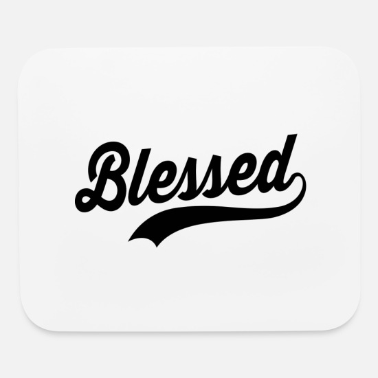 Funny Pregnancy Mouse Pads - Blessed Pregnancy - Mouse Pad white