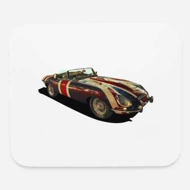 Union Jack Jag painting - Mouse Pad