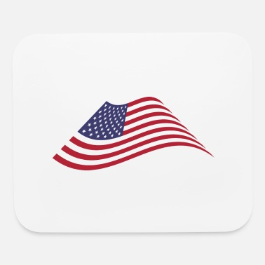 Wave American Flag Waving - Mouse Pad