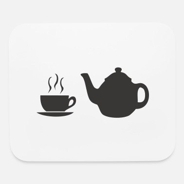 Bistro coffee pot and cup - Mouse Pad