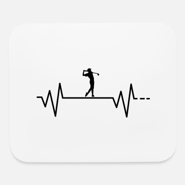 Golf Swing Heartbeat - Golf, Golfing, ball, swing, course - Mouse Pad