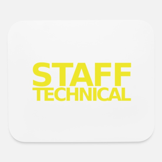 Person Mouse Pads - staff tehnical - Mouse Pad white