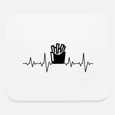 Ketchup French Fries Heartbeat Pommes Gift Fast Food - Mouse Pad
