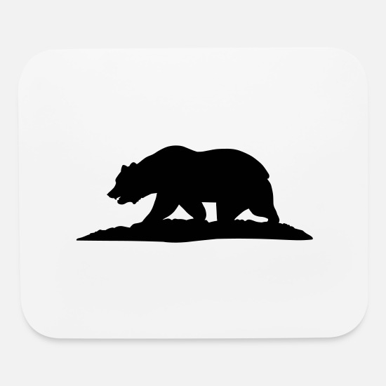 San Diego Mouse Pads - California Bear - Mouse Pad white