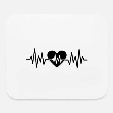 Heart Rate Heart Rate Love - Mouse Pad