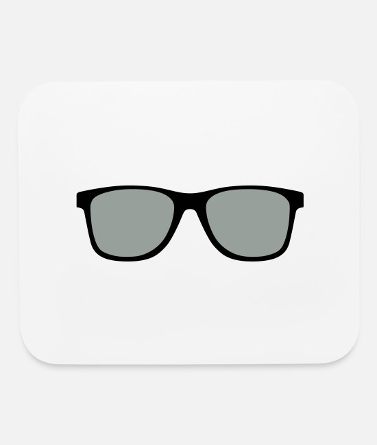 Beard Mouse Pads - sunglasses - shades - Mouse Pad white